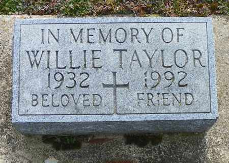 TAYLOR, WILLIE - Shelby County, Ohio | WILLIE TAYLOR - Ohio Gravestone Photos
