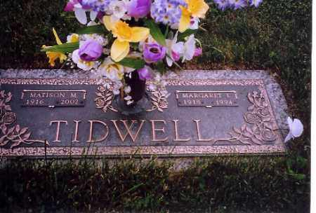 TIDWELL, MARGARET L. - Shelby County, Ohio | MARGARET L. TIDWELL - Ohio Gravestone Photos