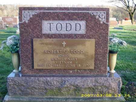 TODD, ROBERT J. - Shelby County, Ohio   ROBERT J. TODD - Ohio Gravestone Photos