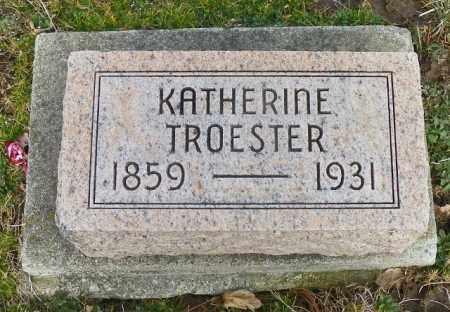 TROESTER, KATHERINE - Shelby County, Ohio | KATHERINE TROESTER - Ohio Gravestone Photos