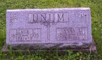UNUM, ELMER T. - Shelby County, Ohio | ELMER T. UNUM - Ohio Gravestone Photos