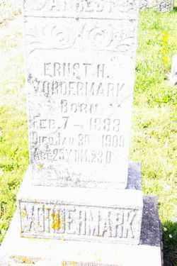 VORDERMARK, ERNEST H - Shelby County, Ohio   ERNEST H VORDERMARK - Ohio Gravestone Photos