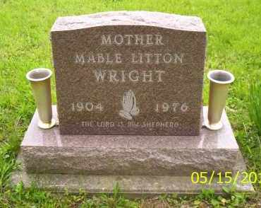WRIGHT, MABLE LITTON - Shelby County, Ohio | MABLE LITTON WRIGHT - Ohio Gravestone Photos