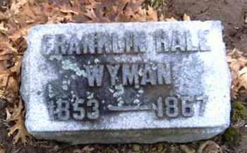WYMAN, FRANKLIN HALE - Shelby County, Ohio   FRANKLIN HALE WYMAN - Ohio Gravestone Photos