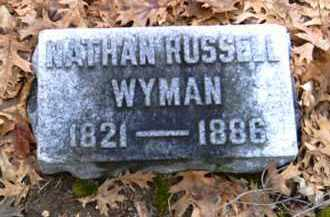 WYMAN, NATHAN RUSSELL - Shelby County, Ohio | NATHAN RUSSELL WYMAN - Ohio Gravestone Photos