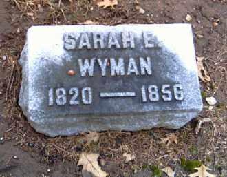 WYMAN, SARAH E. - Shelby County, Ohio | SARAH E. WYMAN - Ohio Gravestone Photos