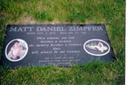 ZIMPFER, MATT DANIEL - Shelby County, Ohio | MATT DANIEL ZIMPFER - Ohio Gravestone Photos