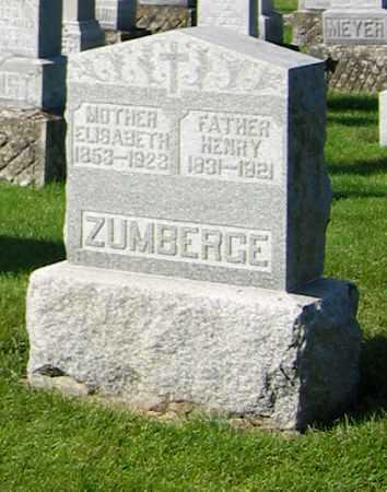 ZUMBERG, ELISABETH - Shelby County, Ohio | ELISABETH ZUMBERG - Ohio Gravestone Photos