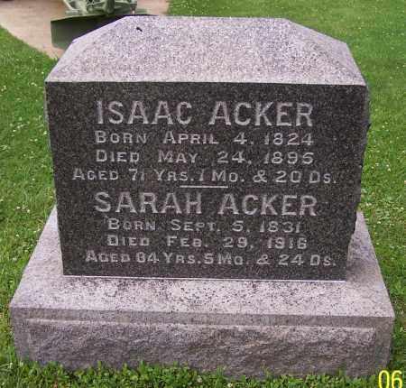 ACKER, SARAH - Stark County, Ohio   SARAH ACKER - Ohio Gravestone Photos