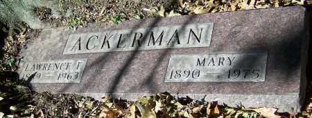 ACKERMAN, MARY - Stark County, Ohio | MARY ACKERMAN - Ohio Gravestone Photos