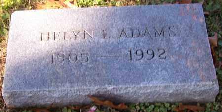 ADAMS, HELYN L. - Stark County, Ohio | HELYN L. ADAMS - Ohio Gravestone Photos
