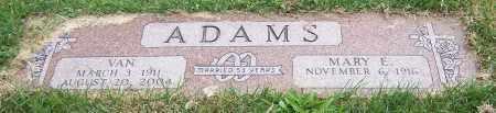 ADAMS, MARY E. - Stark County, Ohio   MARY E. ADAMS - Ohio Gravestone Photos