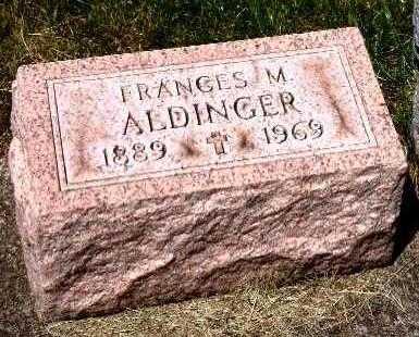 MOULIN ALDINGER, FRANCES M. - Stark County, Ohio | FRANCES M. MOULIN ALDINGER - Ohio Gravestone Photos
