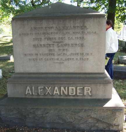 ALEXANDER, HARRIET LAWRENCE - Stark County, Ohio   HARRIET LAWRENCE ALEXANDER - Ohio Gravestone Photos