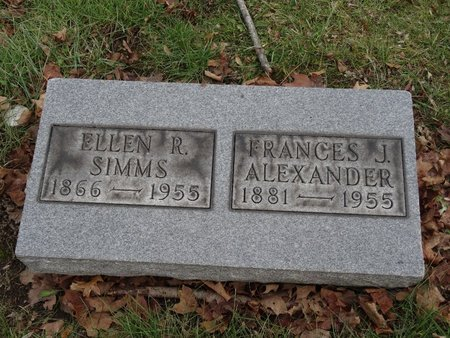 ALEXANDER, FRANCES J. - Stark County, Ohio | FRANCES J. ALEXANDER - Ohio Gravestone Photos