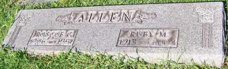 ALLEN, ROSCOE G. - Stark County, Ohio   ROSCOE G. ALLEN - Ohio Gravestone Photos