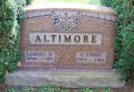 ALTIMORE, SAMUEL D. - Stark County, Ohio   SAMUEL D. ALTIMORE - Ohio Gravestone Photos