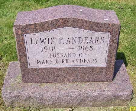 ANDEARS, LEWIS F. - Stark County, Ohio | LEWIS F. ANDEARS - Ohio Gravestone Photos