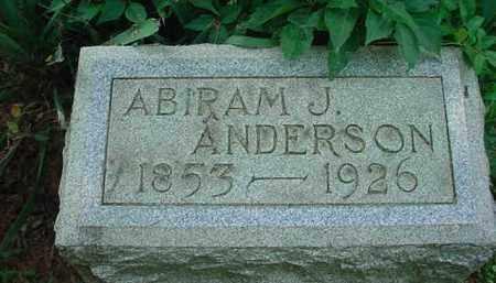 ANDERSON, ABIRAM J - Stark County, Ohio | ABIRAM J ANDERSON - Ohio Gravestone Photos