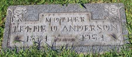 ANDERSON, LETTIE O. - Stark County, Ohio   LETTIE O. ANDERSON - Ohio Gravestone Photos