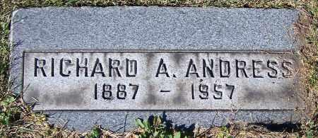 ANDRESS, RICHARD A. - Stark County, Ohio | RICHARD A. ANDRESS - Ohio Gravestone Photos