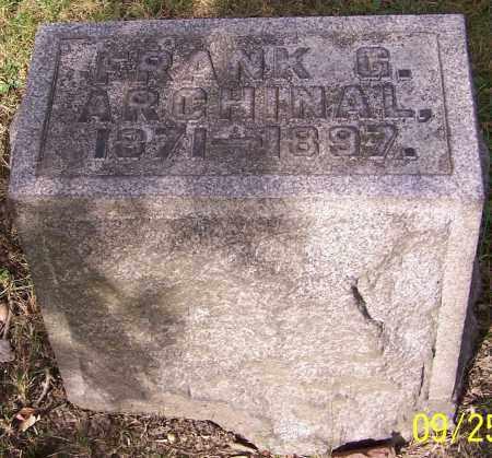 ARCHINAL, FRANK G. - Stark County, Ohio | FRANK G. ARCHINAL - Ohio Gravestone Photos