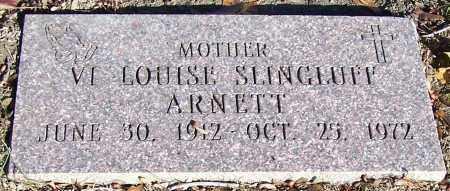 ARNETT, VI LOUISE SLINGLUFF - Stark County, Ohio | VI LOUISE SLINGLUFF ARNETT - Ohio Gravestone Photos