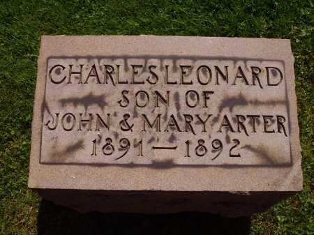 ARTER, CHARLES LEONARD - Stark County, Ohio | CHARLES LEONARD ARTER - Ohio Gravestone Photos