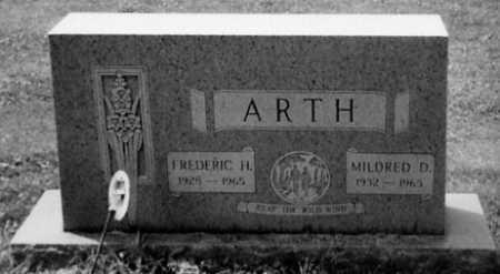 ARTH, FREDERIC H. - Stark County, Ohio | FREDERIC H. ARTH - Ohio Gravestone Photos