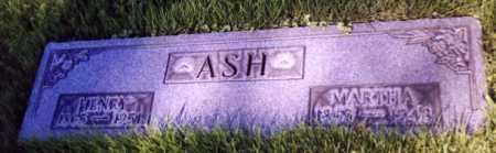 ASH, MARTHA - Stark County, Ohio | MARTHA ASH - Ohio Gravestone Photos