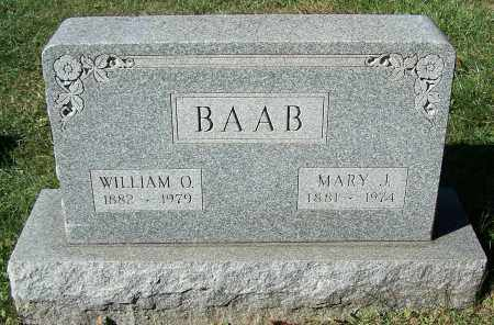 BAAB, WILLIAM O. - Stark County, Ohio | WILLIAM O. BAAB - Ohio Gravestone Photos