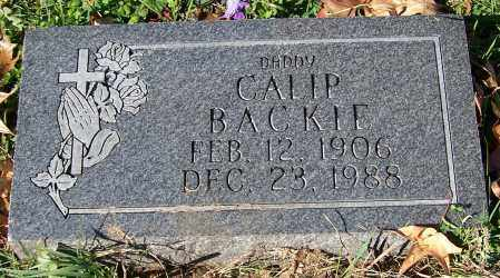 BACKIE, CALIP - Stark County, Ohio | CALIP BACKIE - Ohio Gravestone Photos