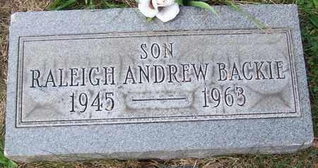 BACKIE, RALEIGH ANDREW - Stark County, Ohio   RALEIGH ANDREW BACKIE - Ohio Gravestone Photos