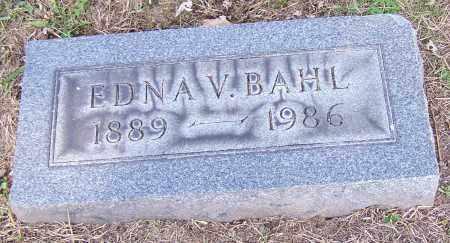 BAHL, EDNA V. - Stark County, Ohio | EDNA V. BAHL - Ohio Gravestone Photos