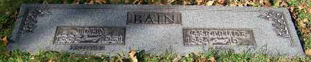 BAIN, GERTRUDE - Stark County, Ohio | GERTRUDE BAIN - Ohio Gravestone Photos