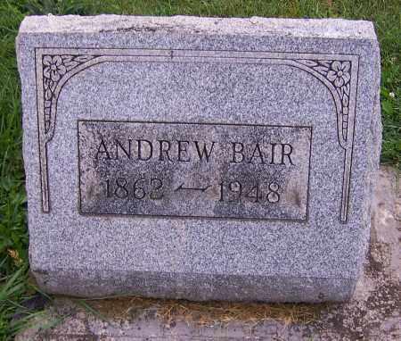 BAIR, ANDREW - Stark County, Ohio | ANDREW BAIR - Ohio Gravestone Photos