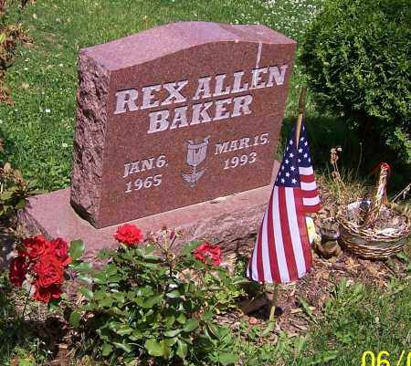 BAKER, REX ALLEN - Stark County, Ohio | REX ALLEN BAKER - Ohio Gravestone Photos