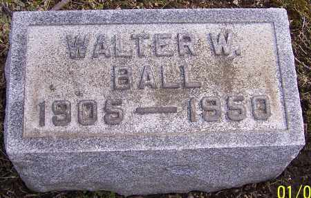 BALL, WALTER W. - Stark County, Ohio | WALTER W. BALL - Ohio Gravestone Photos