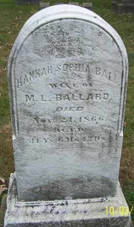 BALLARD, HANNAH SOPHIA - Stark County, Ohio   HANNAH SOPHIA BALLARD - Ohio Gravestone Photos