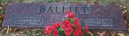 BALLIET, CURTIS H. - Stark County, Ohio | CURTIS H. BALLIET - Ohio Gravestone Photos