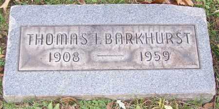 BARKHURST, THOMAS I. - Stark County, Ohio | THOMAS I. BARKHURST - Ohio Gravestone Photos