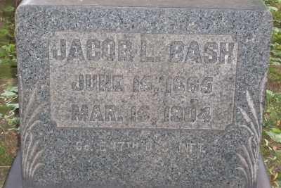 BASH, JACOB L. - Stark County, Ohio | JACOB L. BASH - Ohio Gravestone Photos