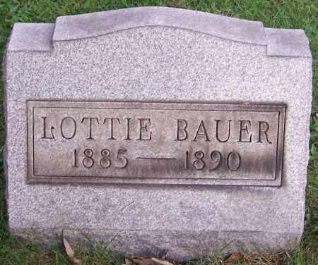 BAUER, LOTTIE - Stark County, Ohio   LOTTIE BAUER - Ohio Gravestone Photos