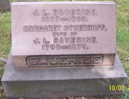 BAUERISE, J.L. - Stark County, Ohio | J.L. BAUERISE - Ohio Gravestone Photos