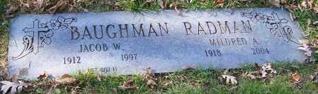BAUGHMAN, JACOB W. - Stark County, Ohio | JACOB W. BAUGHMAN - Ohio Gravestone Photos