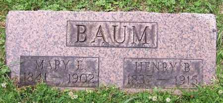BAUM, MARY E. - Stark County, Ohio   MARY E. BAUM - Ohio Gravestone Photos