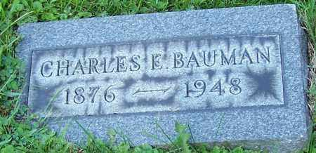 BAUMAN, CHARLES E. - Stark County, Ohio | CHARLES E. BAUMAN - Ohio Gravestone Photos