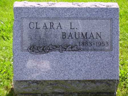 BAUMAN, CLARA L. - Stark County, Ohio | CLARA L. BAUMAN - Ohio Gravestone Photos