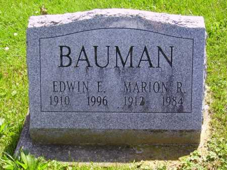BAUMAN, MARION R. - Stark County, Ohio | MARION R. BAUMAN - Ohio Gravestone Photos