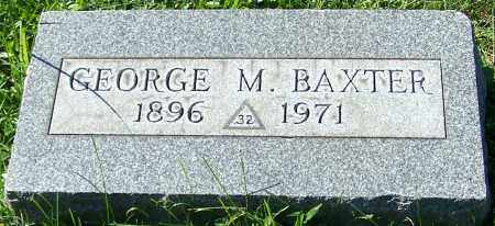 BAXTER, GEORGE M. - Stark County, Ohio | GEORGE M. BAXTER - Ohio Gravestone Photos